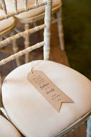 dining chair hbn highbackdiningchair: luggage tag seat names ceremony reserved romantic summer country blush wedding http katherineashdown