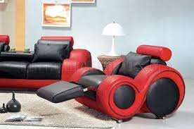 black red two tone leather 3pc modern living room set black and red furniture