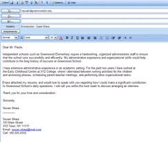 best format to send resume via email cover letter attach sample