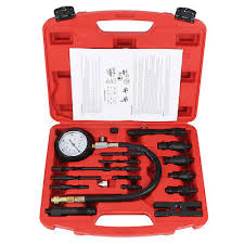 <b>17 PCS Diesel</b> Engine Compression Tester Kit Tool Set Automotive ...
