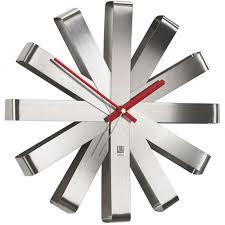 <b>Часы настенные</b> Umbra <b>Ribbon</b> сталь