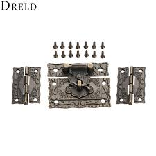 <b>DRELD 2pcs</b> Suitcase Cabinet Hinge +1pc <b>Antique</b> Bronze Jewelry ...