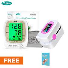 Cofoe <b>Digital</b> Upper Arm Blood Pressure Monitor+ <b>Finger</b> Blood ...