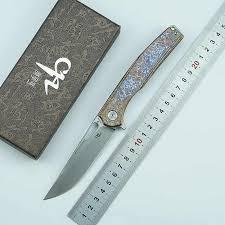 <b>CH3538</b> folding knife S35VN blade titanium alloy handle tactics ...