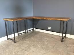 rustic corner desk office guest room salvaged reclaimed l shaped wood desk by urbanwoodfurnishings amazing diy home office desk 2 black