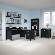 kathy ireland office by bush furniture connecticut 60w l desk 18693456 overstockcom shopping great deals on kathy ireland by bush desks bush furniture bush office