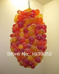 red yellow art glass lighting italian glass bubble chandelier free shippingchina mainland chandelier modern italy blown glass