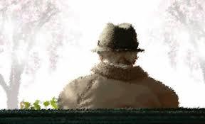 Resultado de imagen para anciano en el banco de la plaza