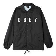 <b>Куртка</b> Коуч <b>Obey</b> Anyway Black заказать с доставкой в магазине ...