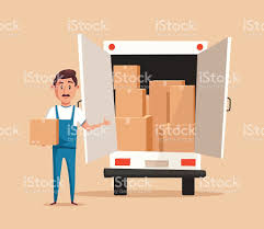 good worker cartoon vector illustration relocation moving service good worker cartoon vector illustration relocation moving service royalty stock vector