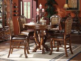 counter height table set amazoncom dresden  piece counter height dining set table  chairs cherr
