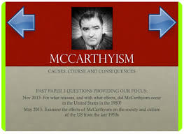 mccarthyism and the second red scare activehistory