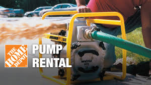 Pump Rental - The Home Depot - YouTube