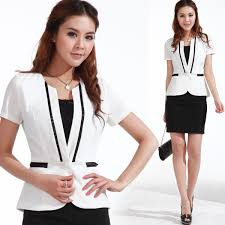 2017 newwhite women suits black dress summer career dress set white women suits black dress 2013 summer work wear career dress set women s formal ol