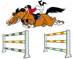 """Résultat de recherche d'images pour """"dessin cheval qui saute avec cavalier"""""""