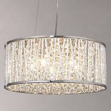 buy john lewis emilia drum crystal pendant light online at johnlewiscom buy pendant lighting