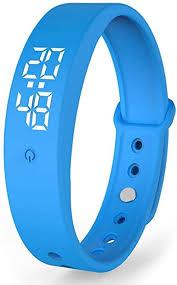 V9 <b>Smart Bracelet</b>, LED Light Display Chargeable Wristband ...