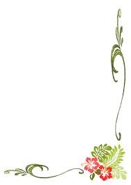 5 great hawaiian borders for templates to use for elegant hibiscus hawaiian greenery border