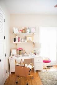 how lauren ashley turned a corner of her bedroom into her own office space catch office space organized