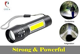 Buy Care 4 <b>LED Flashlight</b> with COB Light Mini Waterproof Portable ...