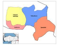 Image result for yüksekova haritası