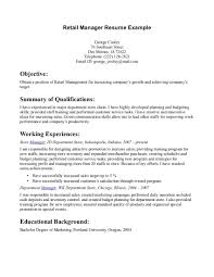 sample objectives in resume for retail resume builder sample objectives in resume for retail retail resume objectives samples o resumebaking retail manager resume example