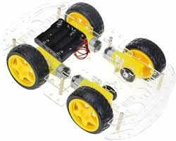 Techleads <b>Smart Car Chassis</b> Transparent 4Wd Racing Car ...