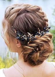Kercisbeauty Wedding Bridal Black and <b>Champagne Crystal Beads</b> ...