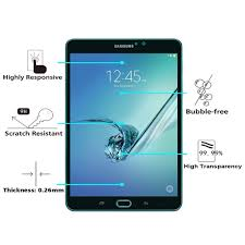 2X <b>9H Tempered Glass Screen</b> Protector For Samsung Galaxy Tab ...