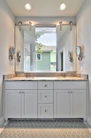 vanity mirror ideas bathroom transitional with are rug barn door bathroom lighting ideas double