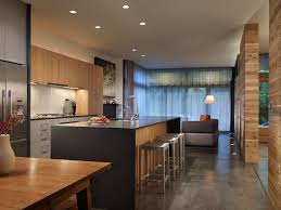 Concrete Floor Kitchen Modern Kitchen With Kitchen Island By Mohler Ghillino Architects