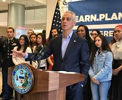 rahm emanuel calls donald trump s attack on cps fake news or rahm emanuel was a malcolm x college wednesday to tout a new graduation requirement for cps students they now must have a plan for post secondary