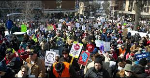 Image result for protests madison wi capitol 2015 right to work
