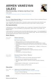 fitness instructor resume samples   visualcv resume samples databasefitness instructor resume samples