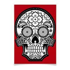 <b>Плакат A3</b>(<b>29.7</b>×<b>42</b>) Santa Muerte skull #1082650 от scoopysmith