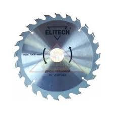 <b>Диск</b> пильный <b>ELITECH 1820.053700</b> Ø190x20/16x1.8мм, 24 зуб ...