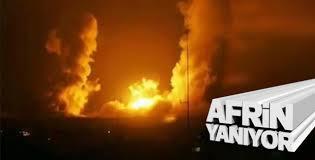 Afrin'de PYD/PKK hedefleri bombalanıyor