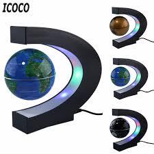 <b>LED World Map</b> Magnetic Levitation Floating Globe Home Electronic ...
