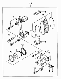 <b>Суппорт переднего тормоза</b> Matiz (Чертеж № 131: список ...