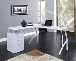white corner computer desk home office pc table with 3 drawers l shaped colored corner desk armoire