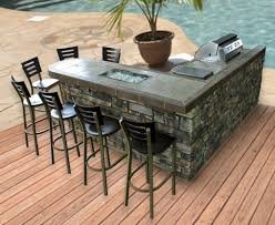 patio outdoor stone kitchen bar: patio layout with outdoor kitchen areawould do small covered pergola on top of bar area as well pool patio pinterest design backyards and outside
