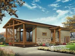 House plan W detail from DrummondHousePlans comfront   BASE MODEL Modern Rustic sq ft  tiny small house plan