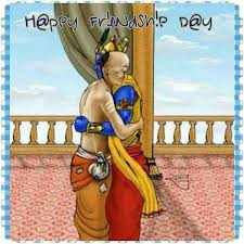 Famous Friendship Dav Krishna Sudama Best Wishes in hindi Image for free download