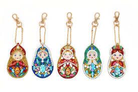 <b>5PCS DIY</b> Full Special Shaped <b>Diamond Painting</b> Doll Russia ...