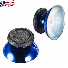 2 Chrome Blue <b>Analog Rocker Cap Joystick</b> Thumb <b>Stick</b> for PS4 ...