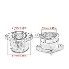 <b>BJMOTO</b> Carburetor Interface Adapter Intake Manifold <b>Boots</b> For ...