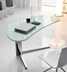 home office appearance more modern with glass desk  home