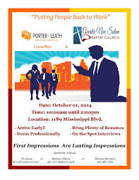 job fair sponsored by porter leath career place job fair 10 1 14 sponsored by porter leath career place greater new m job career news from the memphis public library