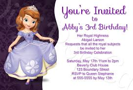 sofia birthday party invitations templates sofia the first birthday party invitation traditiona