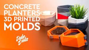 3D Printed <b>Concrete Planter Mold</b> / Anet A6 / Molde Maceteros de ...
